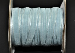 Rola organza 7 mm blue